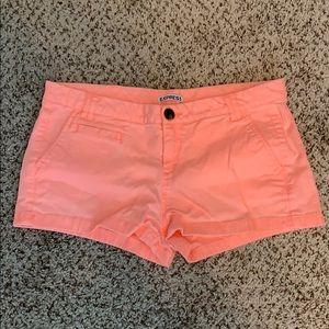 Express Coral Shorts